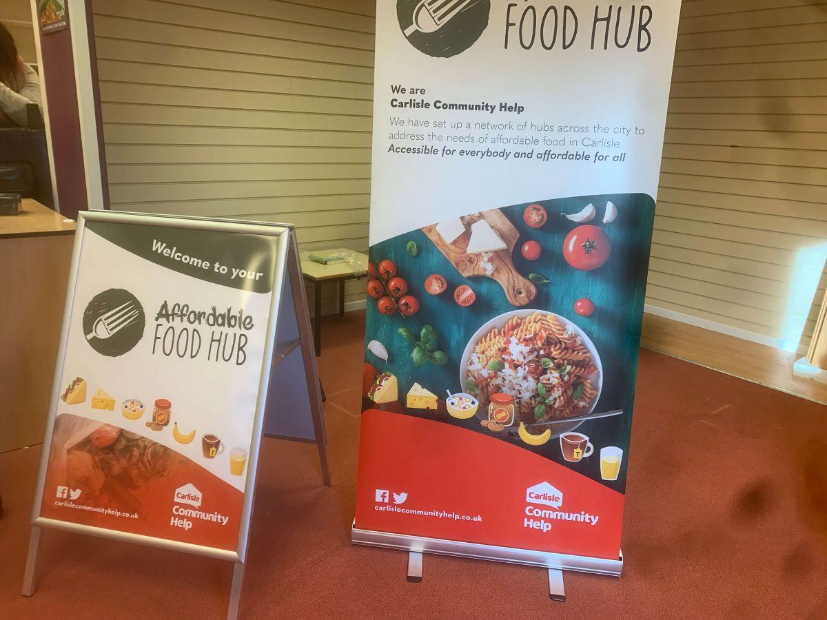 Affordable Food Hub Signage