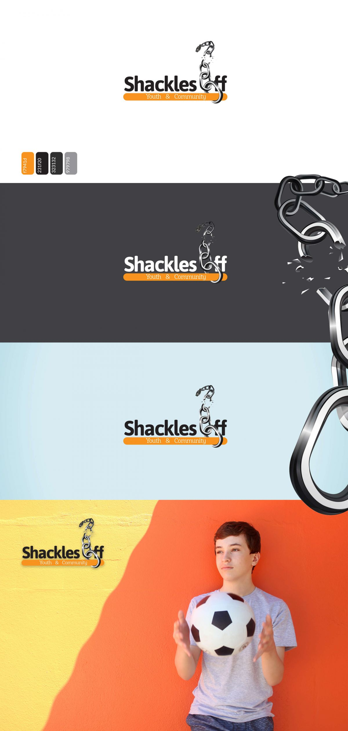 Shackles Off Youth Project Brand Identity